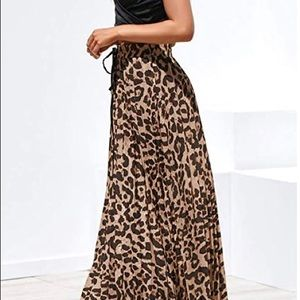 Womens Leopard Print Long skirt